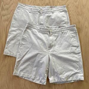 """LOT x2 Mens VINEYARD VINES Cotton Chino Club Short Khaki 38 9"""" Inseam"""